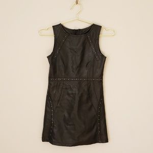 //3 for $25// Laundry Girls Faux Leather Dress